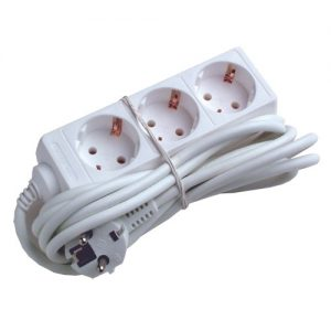 Produžna priključnica 3 utična mjesta 5 metra kabla